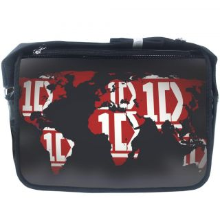 New One Direction 1D Symbols PVC School College Satchel Messenger Shoulder Bag