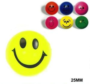 144 Funny Face High Bounce Balls Toys Rubber Toy 216