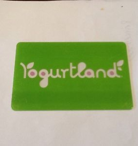 Yogurtland Clear Words Collectible Gift Card Empty