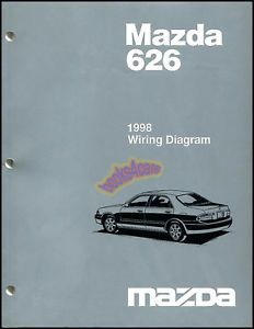 1998 Mazda 626 Electrical Wiring Diagram Shop Manual Engine Chassis Body 98 626