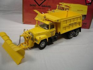 "Mack 1 34 Dump Truck Snow Plow ""Triangle Inc TSC Sand and Gravel"" First Gear"