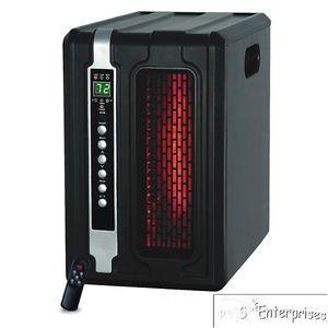 2 Lifesmart LS 3ECO Infrared Quartz 1500W Portable Space Heaters w Remotes