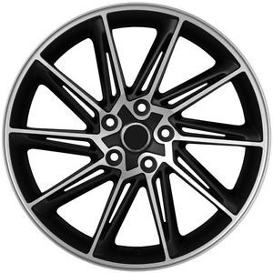 "18"" VW CC Style Matte Black Machined Face Wheels Rims Fit Volkswagen CC GTI"