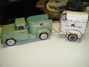 Vintage Tonka Truck Horse Trailer Pressed Steel