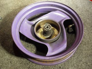 "Yamaha Jog CY50 Scooter Front Wheel 2 15 x 10"" Purple Moped Motion"