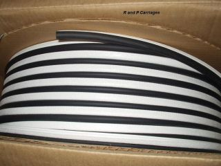 "1 8"" White Edge Trim Seal Black Bulb ""C"" RV camper Lok"