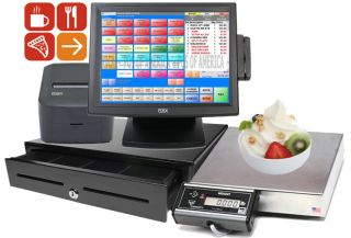 Pcamerica RPE Pro All in One POS Frozen Yogurt Restaurant Complete System New