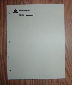 john deere 350 450 sickle bar mower illustrated parts list manual