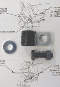 68 69 70 71 442 w 30 Cutlass Battery Cable Clamp to Power Steering Pump Bracket