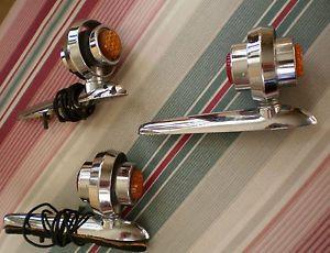 Vintage Auto Motorcycle Fender Marker Signal Lights Rat Rod Hot Rod