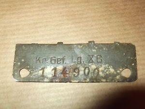 German WWII ID Tag Dog Tag for pow KR GEF LG x B Sandbostel