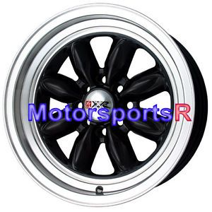 16 16x7 XXR 513 Black Rims Wheels Deep Dish Lip Stance 4x100 98 Honda Civic SI