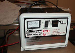 Schauer 10Amp 6 or 12 Volt Automotive Battery Charger