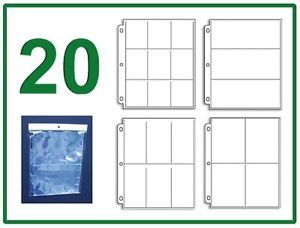 20 Sleeve Variety Pack 4 Coupon Binder Organizer 5 Each 3 4 6 9 Pocket Pages