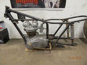 1964 Triumph Bonneville T120 650 Frame Motor Engine Matching Pape Motorcycle TR6