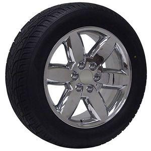 "20"" inch GMC Truck Chrome Rims Wheels Tires Package Yukon Denali Sierra"