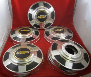 Vintage Set Chevrolet Hubcaps Bowtie Chevy Emblem Aluminum Wheel Wheels Bow Tie