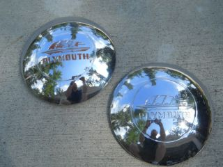 1947 Plymouth Hubcaps and Beauty Bands