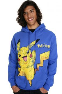Pokemon Distressed Pikachu Hoodie 2XL