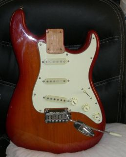 2005 Fender Squier Standard Strat Complete Loaded Body Sienna Cherry Burst