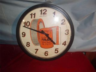 Vintage Seth Thomas Extra Guard Fram Oil Filters Working Clock