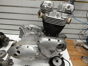 Triumph TR6 Motor Engine Bonneville 1970 650 Basket Case w Paper Chopper Bobber