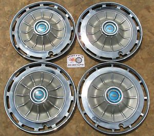 """1962 Chevy Impala 14"""" Wheel Covers Hubcaps Set of 4  Look"""