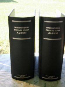 "2 Gently Used 4"" Jumbo Binders Scott International Postage Stamp Albums"