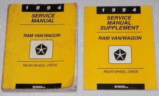 1994 Dodge RAM Van Service Manual B 150 B 250 B 350 Shop Repair CNG 4 Vol Set