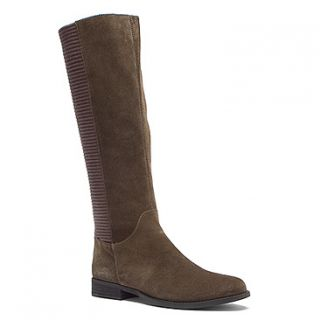 Aetrex Heather Tall Riding Boot  Women's   Olive Suede