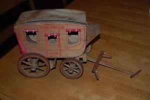 Vintage Wells Fargo Stagecoach Wooden Model Kit