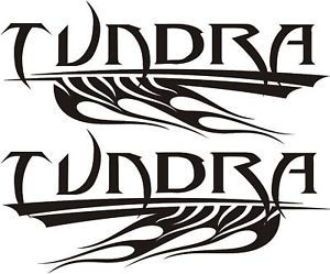 Toyota Tundra Tribal Flames Design Stickers Decals