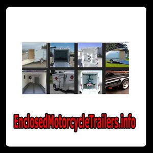 Enclosed Motorcycle Trailers Info Web Domain for Sale Travel Bike Used Market $