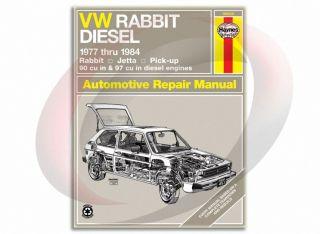 1977 1984 Volkswagen Rabbit Diesel Haynes Repair Manual 96020 Shop Service
