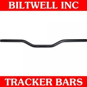 Biltwell Inc Black Dimpled Tracker Handlebars Bobber Harley Sportster Drag Bars
