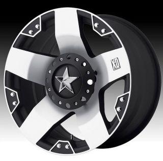 20 inch XD Rockstar XD775 Black Machined Wheels Rims 6x5 5 FJ Cruiser Hummer H3