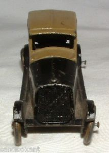 Vintage 1920's Tootsietoy Chevrolet Chevy 2 Door Coupe Diecast Metal Toy Car