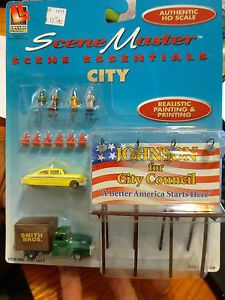 Life Like HO 433 1677 Scene Master People Car Truck Accessories City Set