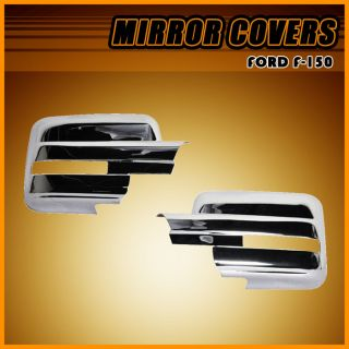 2009 2012 Ford F150 ABS Chrome Side Mirror Cover Caps