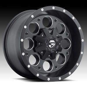 "5 16"" Fuel Revolver Black Wheels Rims Jeep Wrangler JK TJ YJ 33"" Toyo MT Tires"