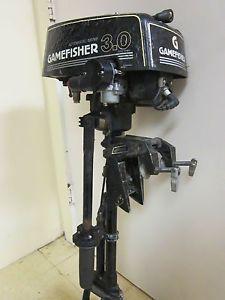 Gamefisher 3 HP Outboard Motor Boat Water Bug Tanaka Marine Gas Engine