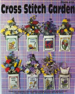 Garden Mark Brockman Counted Cross Stitch Pattern Chart Book 419 Kappie Original