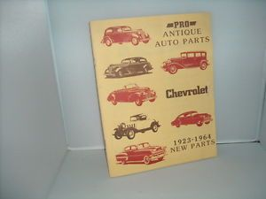 Pro Antique Auto Parts Chevrolet Parts Catalog 190 1989