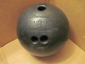 Vintage Bowling Ball Vintage Brunswick Black Beauty Bowling Ball Della