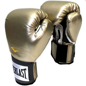 Everlast Pro Style Training Gloves Grappling Boxing Gloves Martial Arts Gold