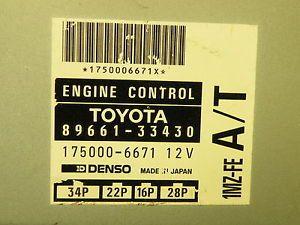 95 Toyota Camry Lexus ES300 ECU ECM Engine Control Computer 89661 33430 1MZ FE