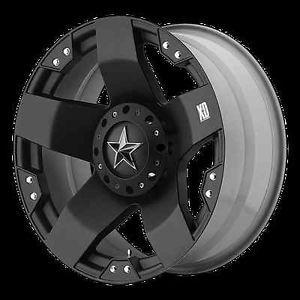 "20"" XD775 Rockstar Black Rims w 37x13 50x20 Toyo Open Country MT Tires Wheels"