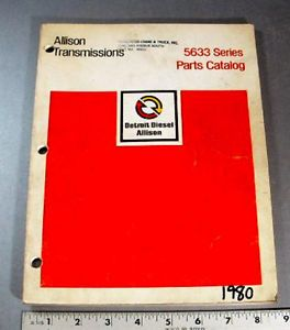 Allison Parts Manual 5633 Series Powershift Transmissions 1980