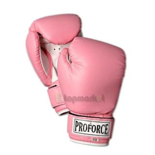 ProForce Women's Pro Style MMA Muay Thai Sparring Boxing Gloves 10 12oz Pink G39
