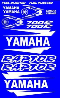 Stickers Decals Graphics Kit for Yamaha Raptor 700 Fender Hood Tank White